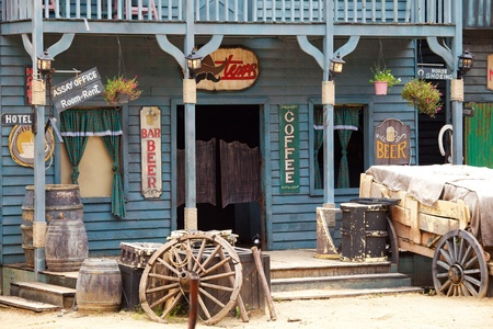 Old Western Style Building And Bar Mural Wallpaper