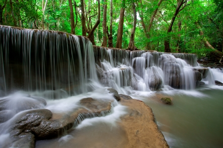 Deep forest Waterfall in Thailand