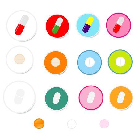 Illustration pour Set of drug on white background - image libre de droit