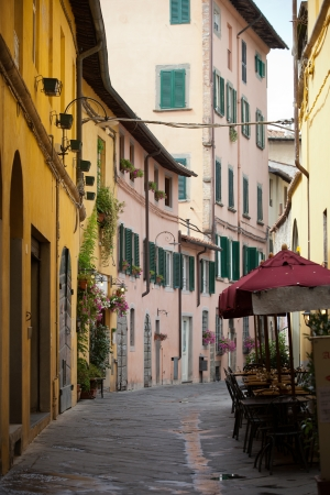 morning in the Tuscan town