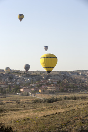Cappadocia, Turkey.The greatest tourist attraction of Cappadocia , the flight with the balloon at sunrise