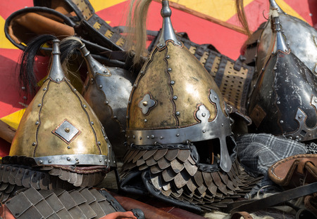 Cracow, Poland. Knight camp during the traditional Medieval festival