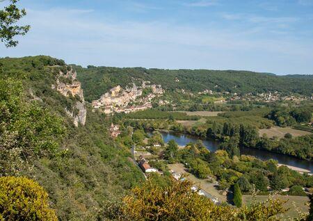 La Roque-Gageac scenic village on the Dordogne river, France