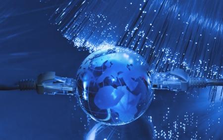 hi-tech earth globe internet background