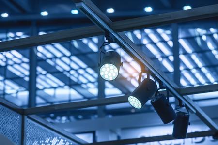 Photo pour LED Light on mall roof. - image libre de droit