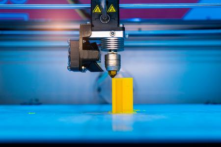 Foto de Three dimensional printing machine,3D printer. - Imagen libre de derechos