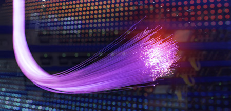 Foto de purple fiber optics lights abstract background - Imagen libre de derechos