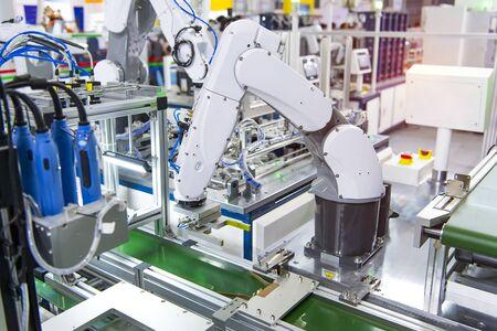 Photo pour computer fan with Robotic and Automation system control application on automate robot arm - image libre de droit