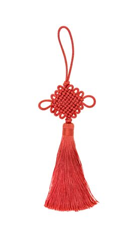 Photo pour Chinese Knot Lucky Charm on white background - image libre de droit