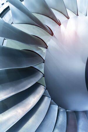 Photo pour Gas turbine engine consist of fan compressor combustion and turbine section part built in one machine. - image libre de droit