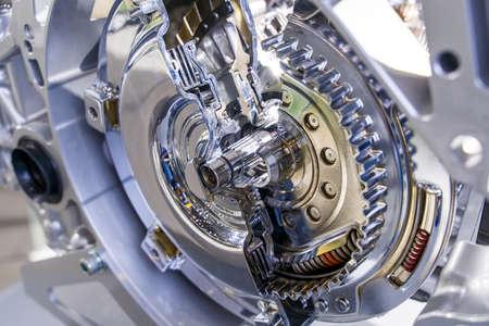 Photo pour Metallic background of car suspension and gear - image libre de droit