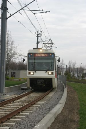 light rail commuter train