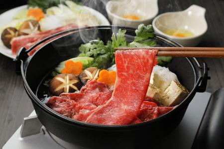Photo for Japanese cuisine Sukiyaki - Royalty Free Image