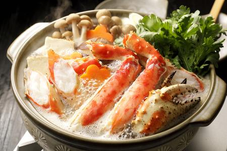 Foto de Hot pot of red king crab - Imagen libre de derechos