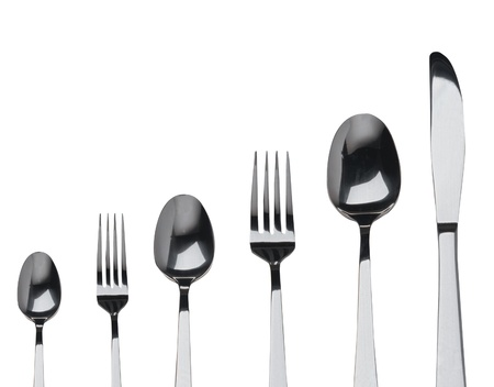 Photo pour fork ,knife and spoon on a white background - image libre de droit