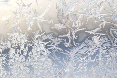 close up shot of ice crystals on a window