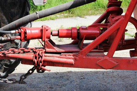 hydraulic drive of the system to the tractor for irrigation water streets in the Gatchina Leningrad region.