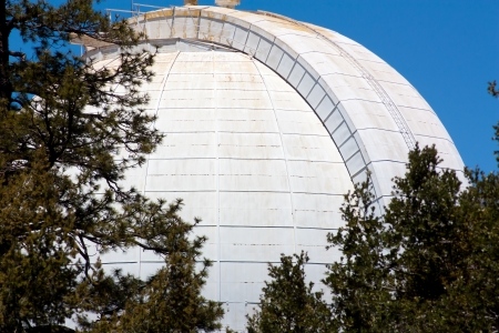 LOS ANGELES COUNTY, CA/USA - May 29, 2010. Mount Wilson Observatory is 5,715-foot (1,742 m) peak in the San Gabriel Mountains, northeast of Los Angeles. The Observatory site holds historically important telescopes dating to 1917. May 29, 2010