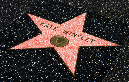 HOLLYWOOD, CA/USA - JULY 9, 2016:  Kate Winslet star on the Hollywood walk of fame.