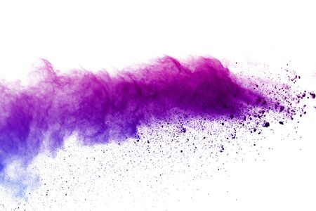 Photo for Explosion of colored powder on white background. - Royalty Free Image