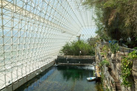 Interior of the Biosphere 2 Earth sciences laboratory where an ocean environment has been recreated for scientific study
