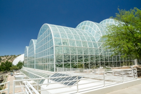 The unique modern architecture at the controversial  Biosphere 2 facility used to study the prospects for space colonization
