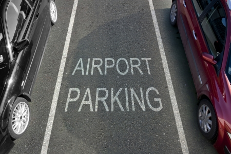 Airport Parking bay with white markings