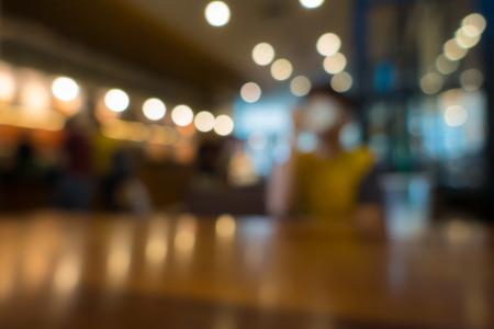 Blur or Defocus image of Coffee Shop or Cafeteria