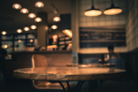 Photo for Blur or Defocus image of Coffee Shop or Cafeteria for use as Background - Royalty Free Image