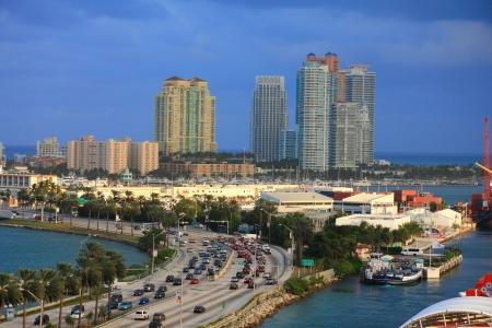 miami city scape in day time ,forida USA