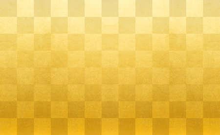 Photo for Gold Check Pattern Ichimatsu Pattern Golden Ichimatsu Pattern Background - Royalty Free Image