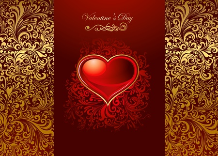 Beautiful card with glossy heart