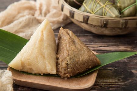 Photo for Dragon Boat Festival dumplings (zongzi) - Royalty Free Image
