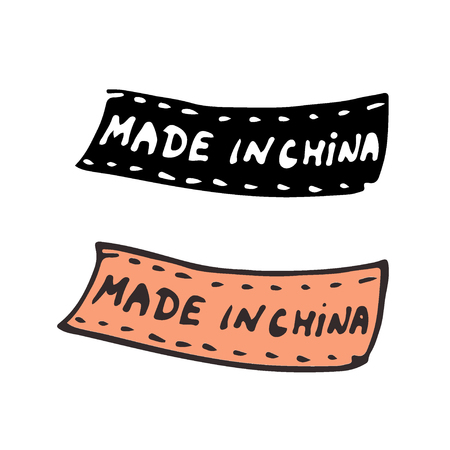 Made in China. Isolated vector tag