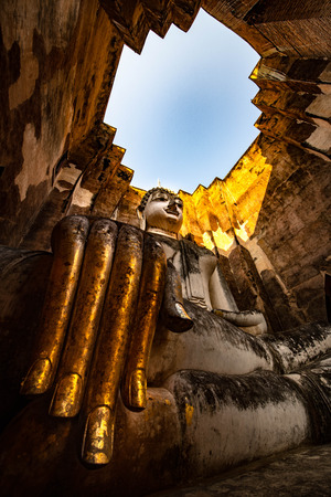 Wat Si Chum outside in old city of Sukhothai Thailand