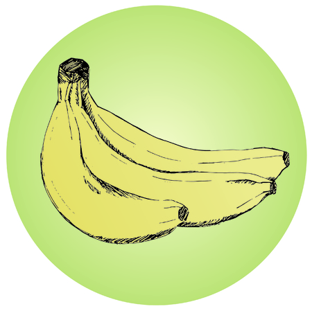 Sheaf of juicy bananas. Fresh bananas of yellow color. The tasty and healthy food full of vitamins. Tropical fruit