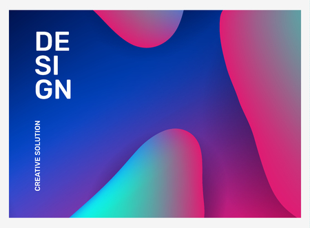 Ilustración de Vector creative illustration of business abstraction. Abstract geometric gradient background with dynamic shape, header. Template composition design for web, site, banner, poster, presentation - Imagen libre de derechos