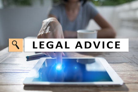 Legal advice ext on virtual screen. Consulting. Attorney at law. lawyer, Business and Finance concept.