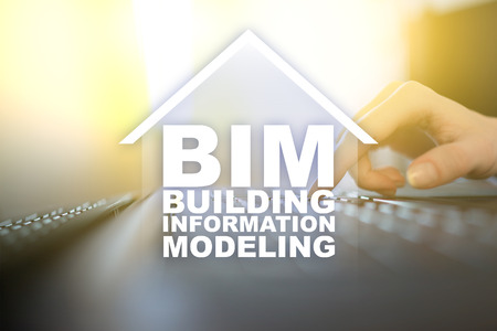 Foto de BIM - Building information modeling is a process the generation and management of digital representations of physical and functional characteristics of places. - Imagen libre de derechos