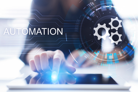 Photo pour Business and manufacturing process Automation, smart industry, innovation and modern technology concept. - image libre de droit