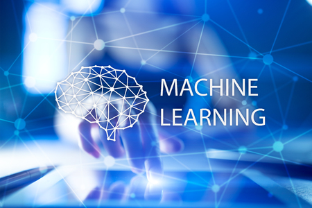 Photo for Machine learning technology and artificial intelligence in modern manufacturing. - Royalty Free Image