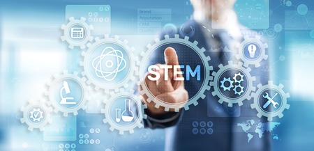 Photo for STEM science, technology, engineering, and mathematics as educational category. - Royalty Free Image