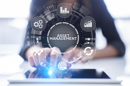 Photo for Asset management concept on virtual screen. Business Technology concept - Royalty Free Image