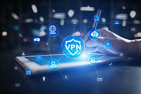 Photo pour VPN Virtual Private network protocol. Cyber security and privacy connection technology. Anonymous Internet - image libre de droit