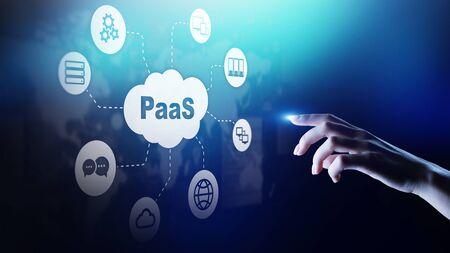 Foto de PaaS - Platform as a service, Internet technology and development concept. - Imagen libre de derechos