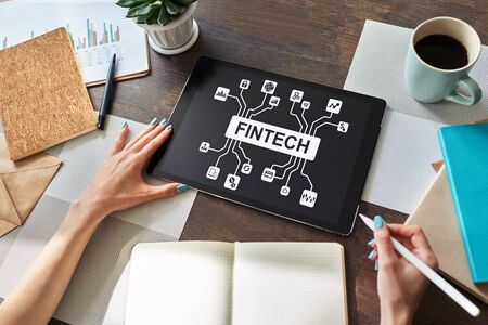 Photo pour FIntech - Financial technology, internet payment and digital money concept. - image libre de droit