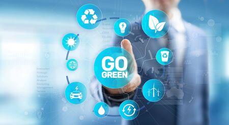 GO green eco technology ecology earth planet saving alternative energy.