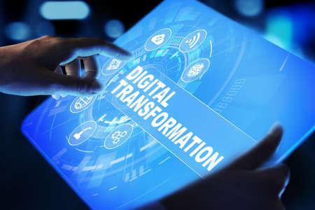 Photo pour Digital transformation, disruption, innovation. Business and modern technology concept. - image libre de droit