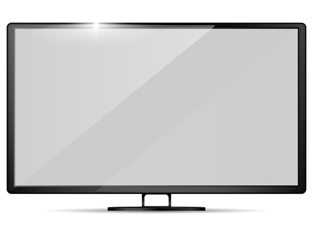 Illustration pour Modern realistic tv. Television set  Mockup. Vector illustration. - image libre de droit