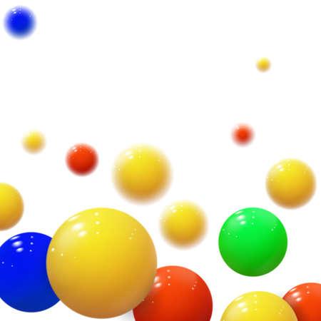 Illustration pour Soft spheres. Plastic bubbles. Glossy balls - image libre de droit